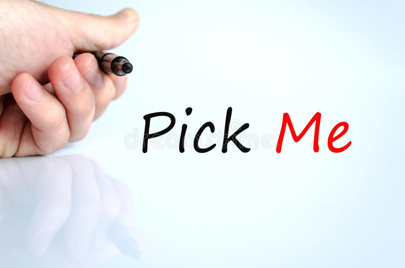 Pick Me Concept royalty free stock photo