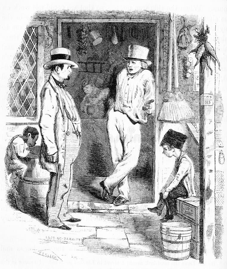 The pick-pocket in a London street scene vector illustration
