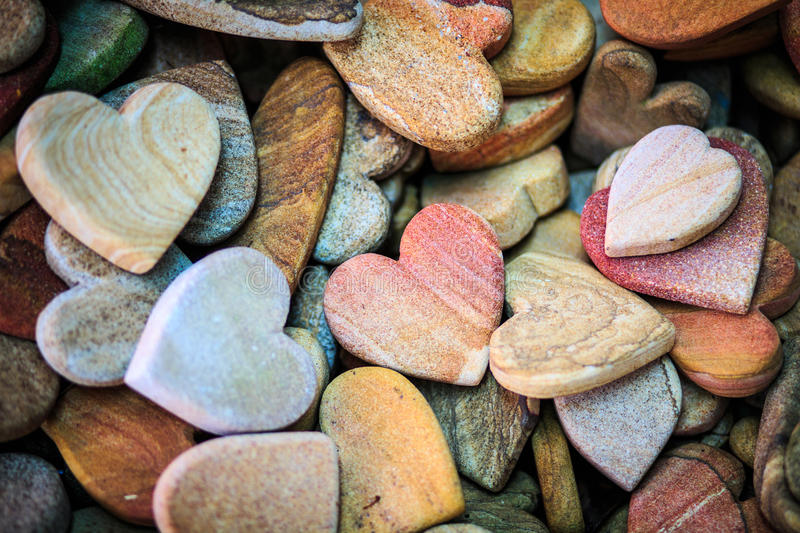Pick sandstone carving in Heart shape. In a pile royalty free stock image