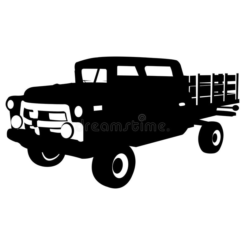 Download Pick-up stock vector. Image of illustration, obsolete - 9894158