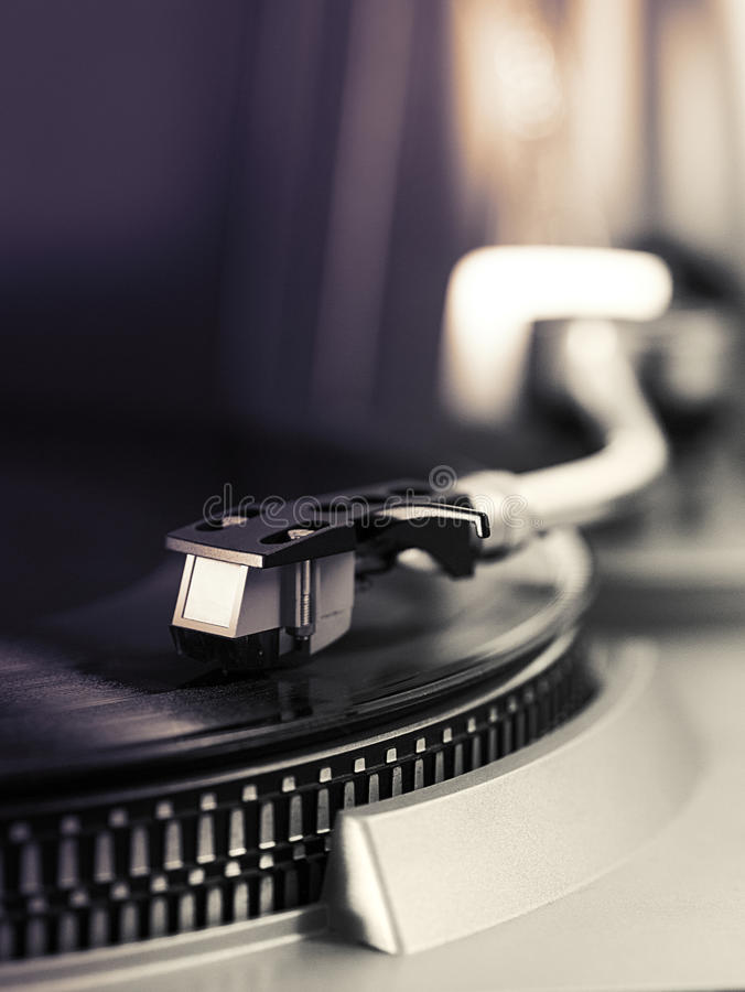 Pick-up arm of a record player royalty free stock image