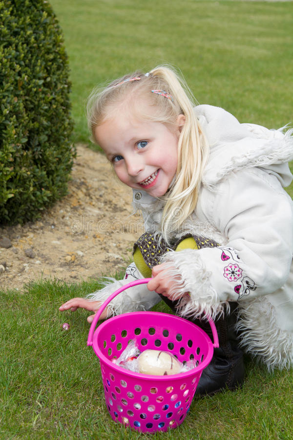 Pick Up Easter Eggs Royalty Free Stock Photo