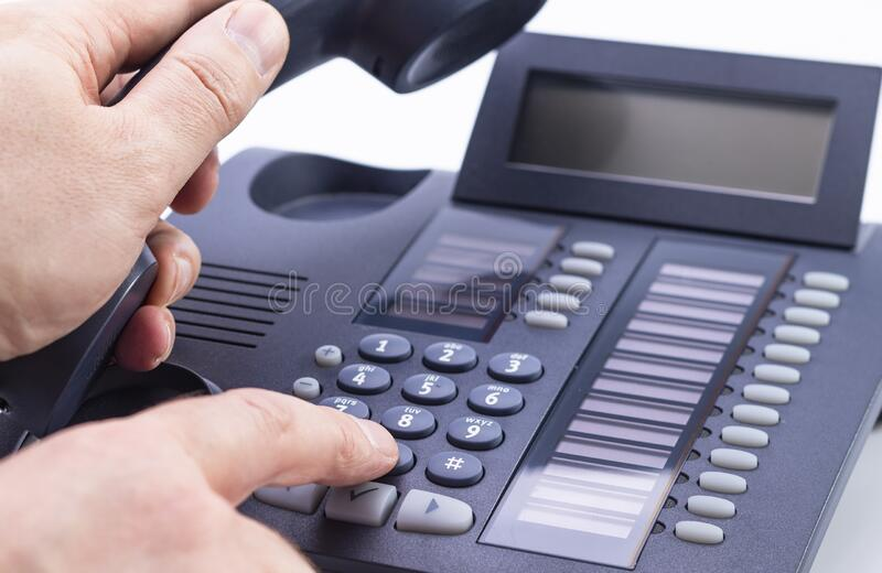 Pick up the phone royalty free stock photo