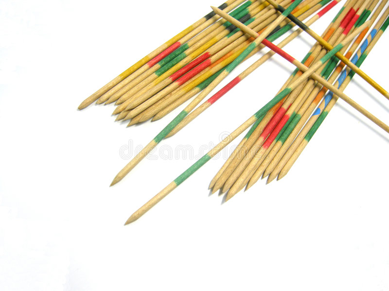 Pick-Up Sticks Game Stock Images