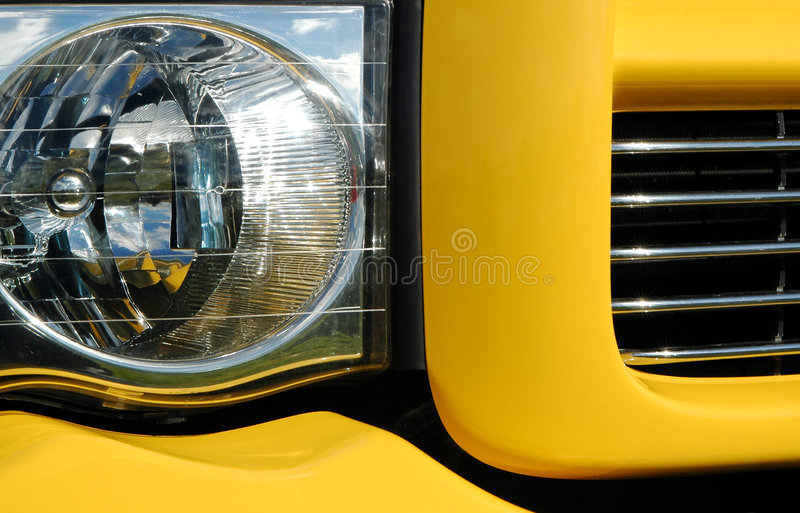 Pick-up truck. Colorful pick-up truck light and grill abstract stock photos