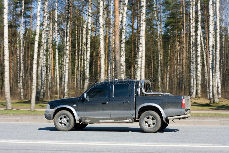Download Pick-up truck stock image. Image of over, freight, asphalt - 5209315