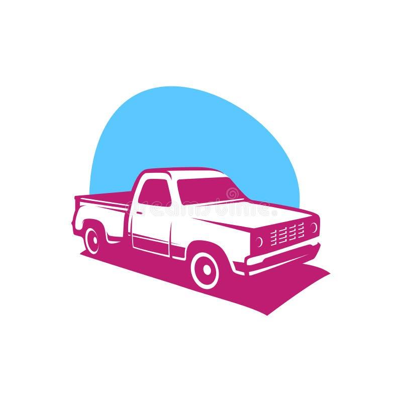 Pick up truck car vector logo template royalty free illustration