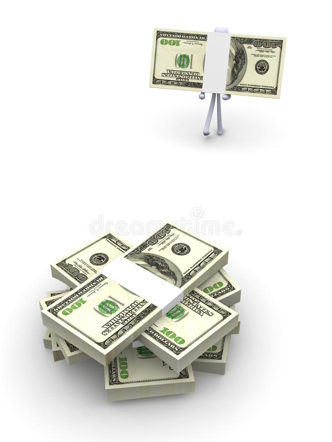 Download Pick up your cash stock illustration. Image of money - 15786813