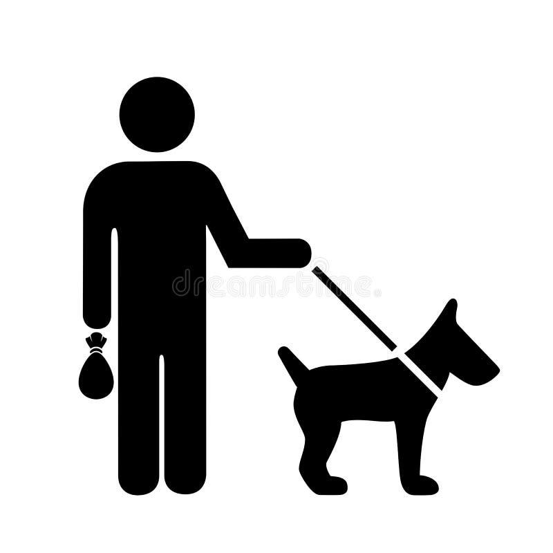 Pick up after your dog sign royalty free illustration