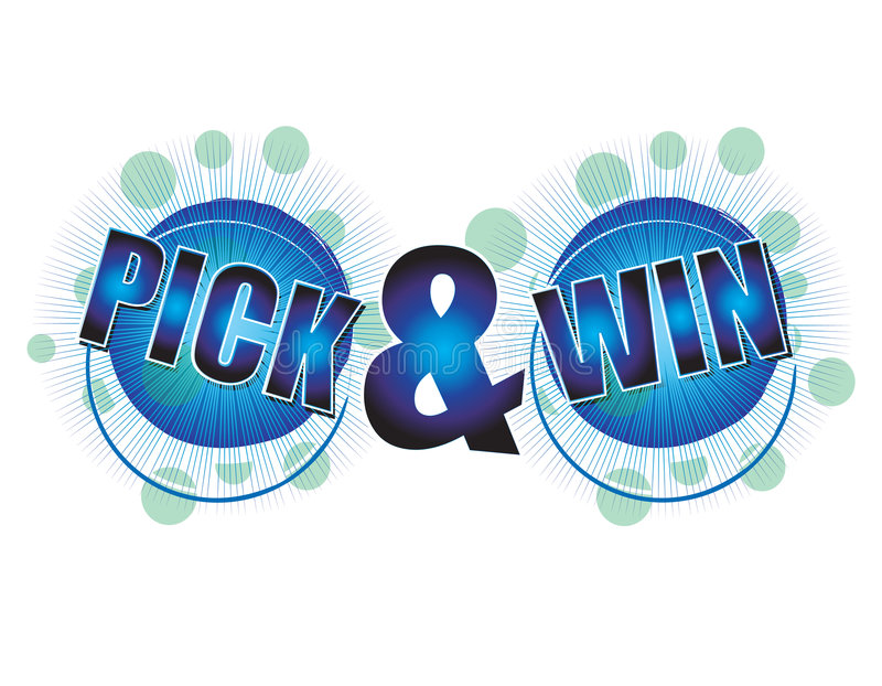 Pick and Win stock illustration