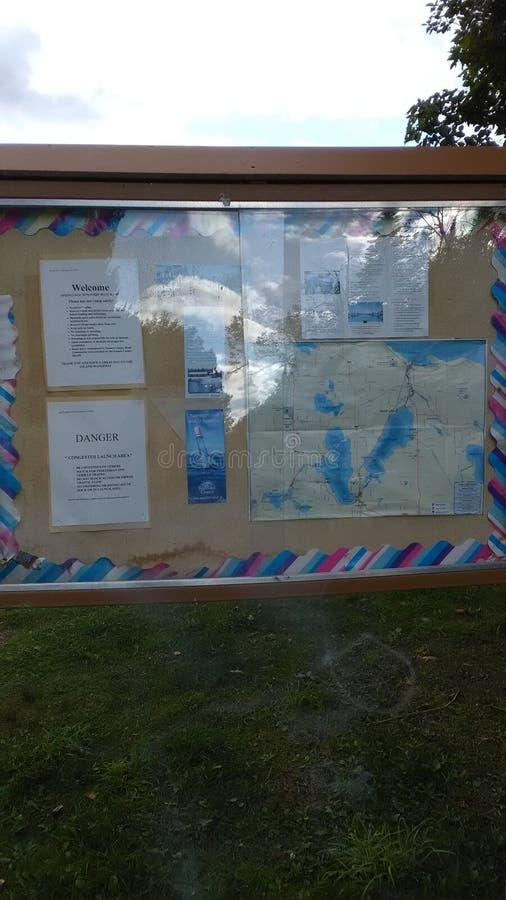 Pickeral湖 Petoskey密执安 公共频道播送船坞 图库摄影