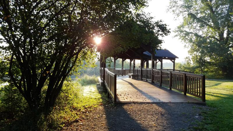 Pickerington Ponds Metro Park stock image