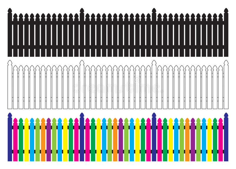 Download Picket Fence stock vector. Image of cmyk, editable, panel - 10594889