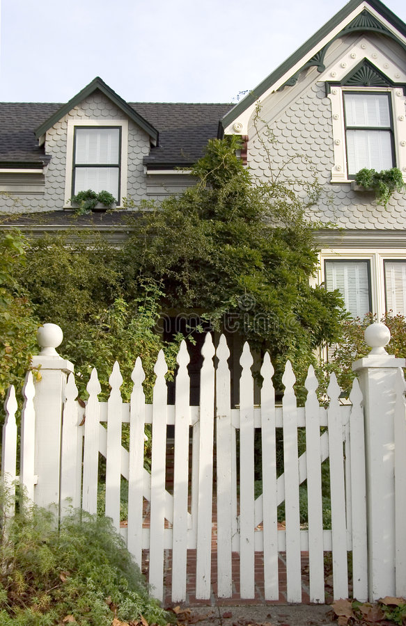 Download Picket Fence Entry stock image. Image of architecture, home - 456975