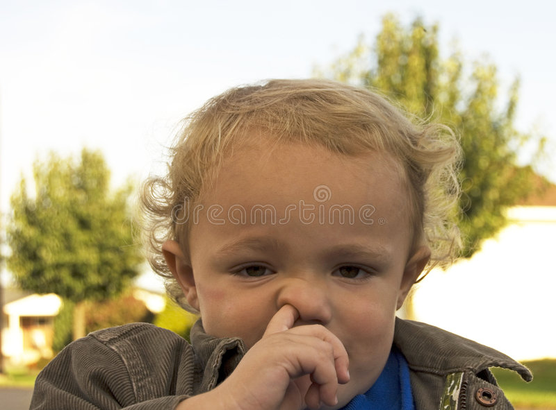 Download Picking Nose stock image. Image of caucasian, blond, people - 1622849