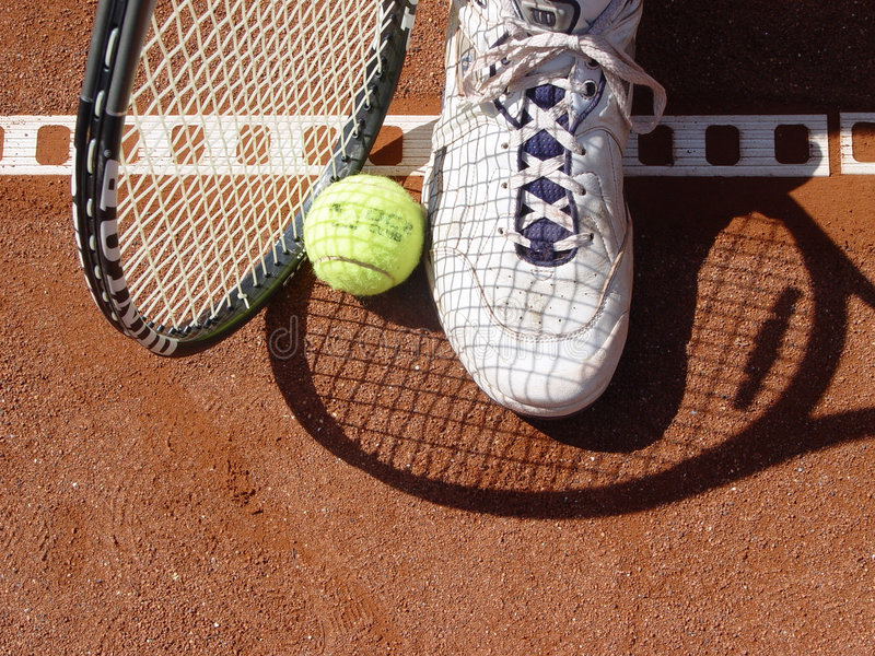 Download Picking up stock image. Image of tennis, sports, court, ball - 10235