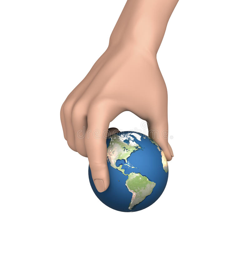 Picking up Earth stock image