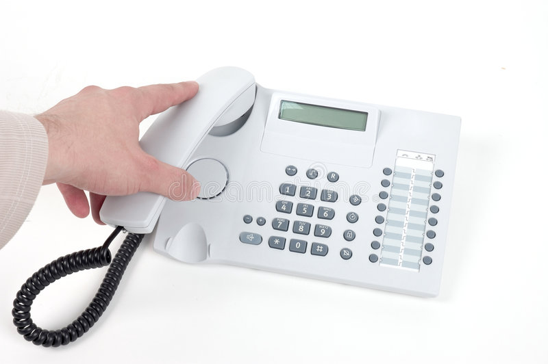 Download Picking up the phone stock photo. Image of business, information - 1410066