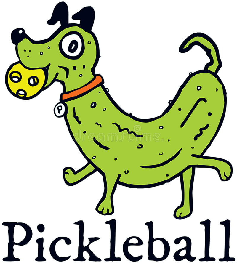 Pickleball Pickledog obraz stock