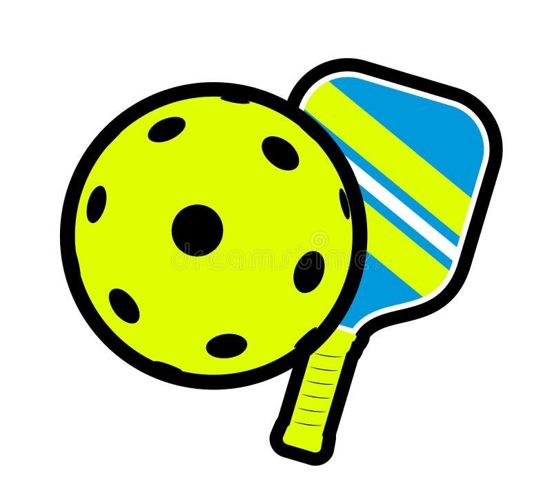 Pickleball symbol design. Creative design of Pickleball symbol vector illustration