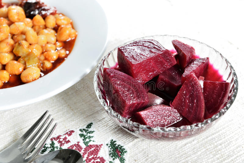 Pickled beets stock photos