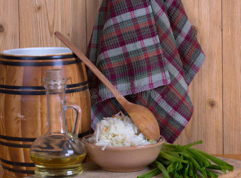 Download Pickled cabbage homemade stock image. Image of napkin - 27362909