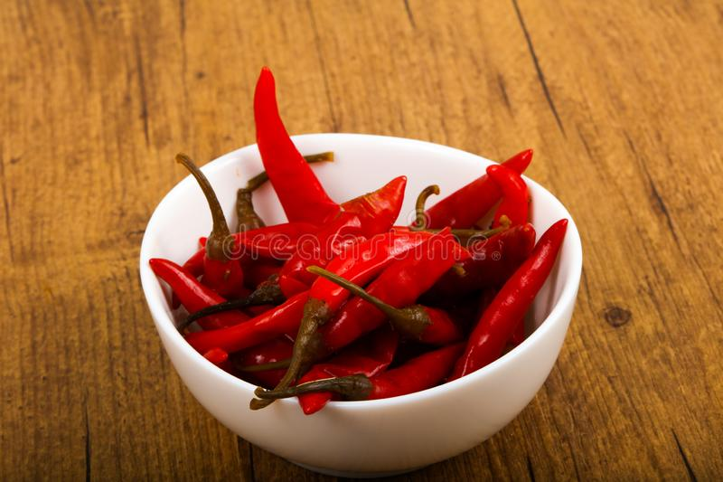 Pickled chili pepper royalty free stock photo