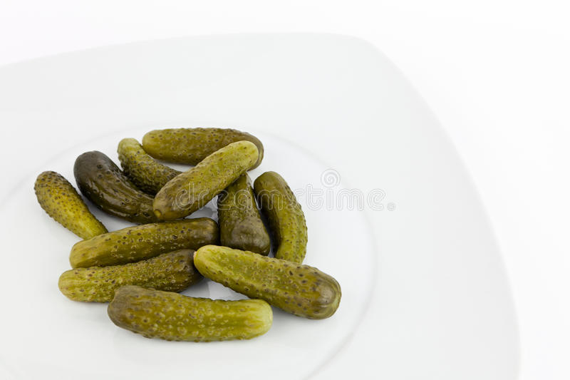 Pickled cucumbers. stock photos