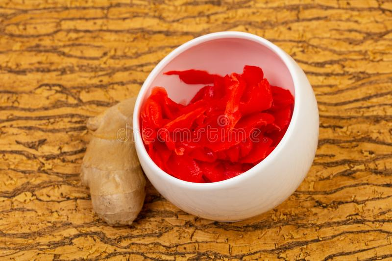 Pickled Ginger in the bowl royalty free stock image