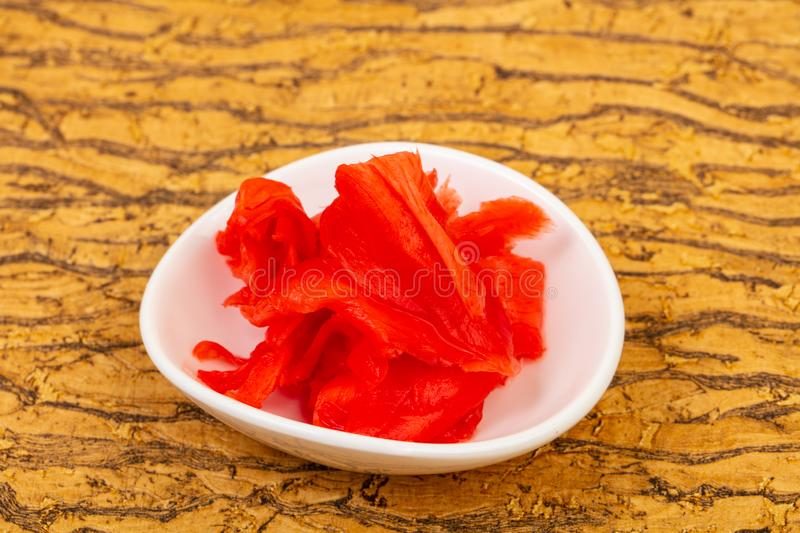Pickled Ginger in the bowl stock photography