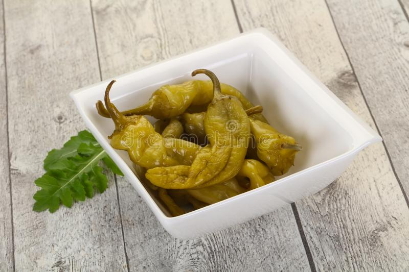 Pickled green pepper royalty free stock image