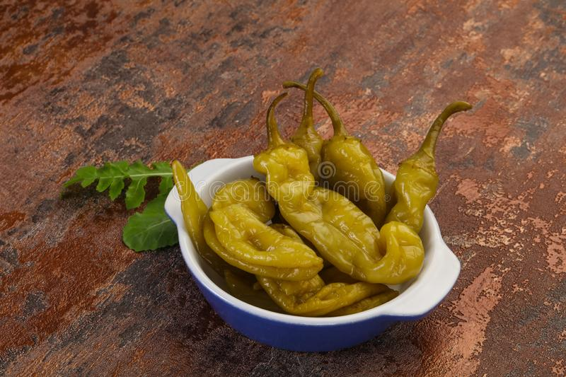 Pickled green pepper stock photography