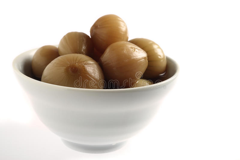 Pickled Onion Bowl Royalty Free Stock Image