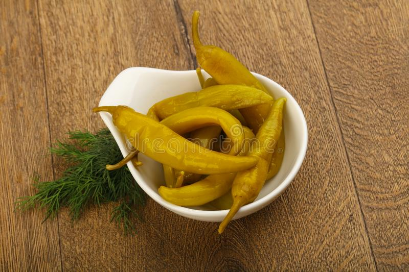 Pickled pepperoni pepper stock photography