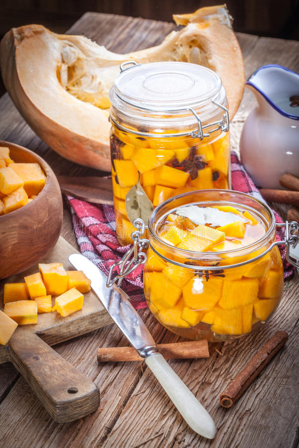 Download Pickled pumpkin. stock photo. Image of country, bottled - 58806258