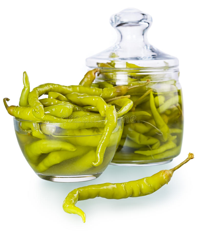 Pickled spicy green pepper royalty free stock photography
