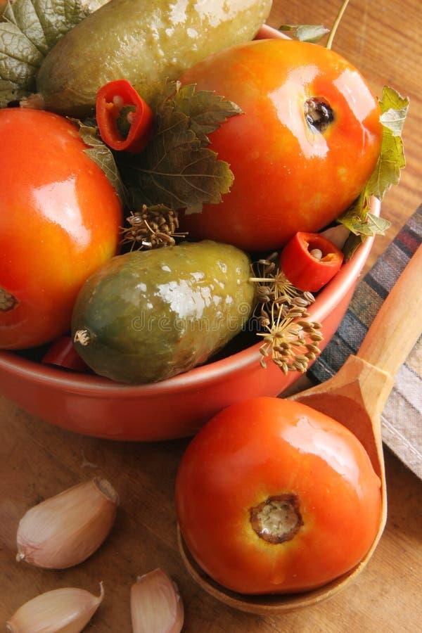 Pickled vegetables. royalty free stock image