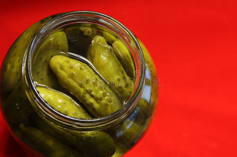 Pickles jar royalty free stock photography