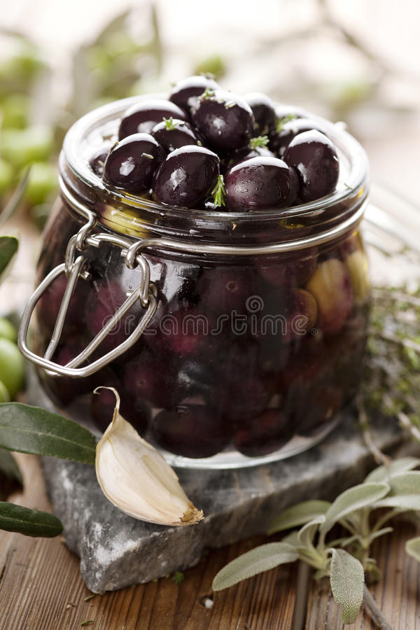 Pickling olives stock photography