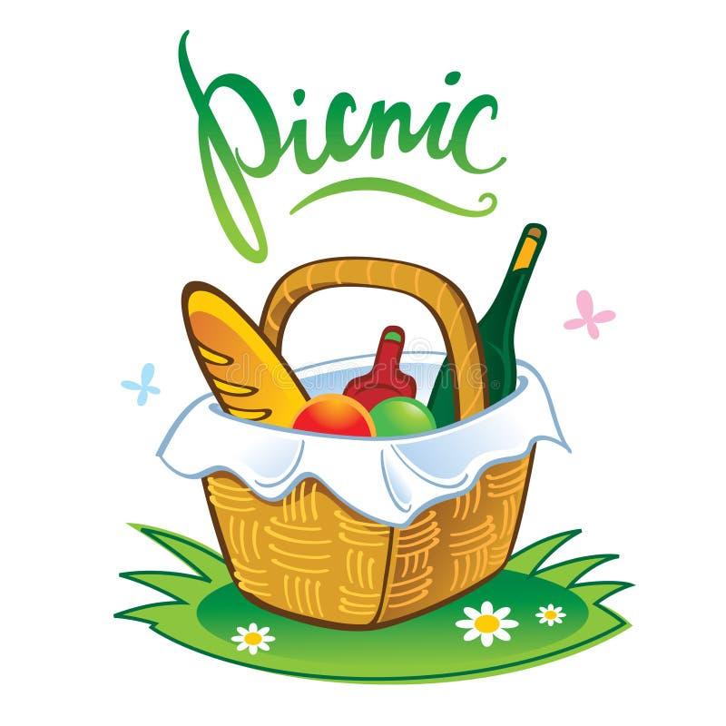 Picknick stock illustrationer
