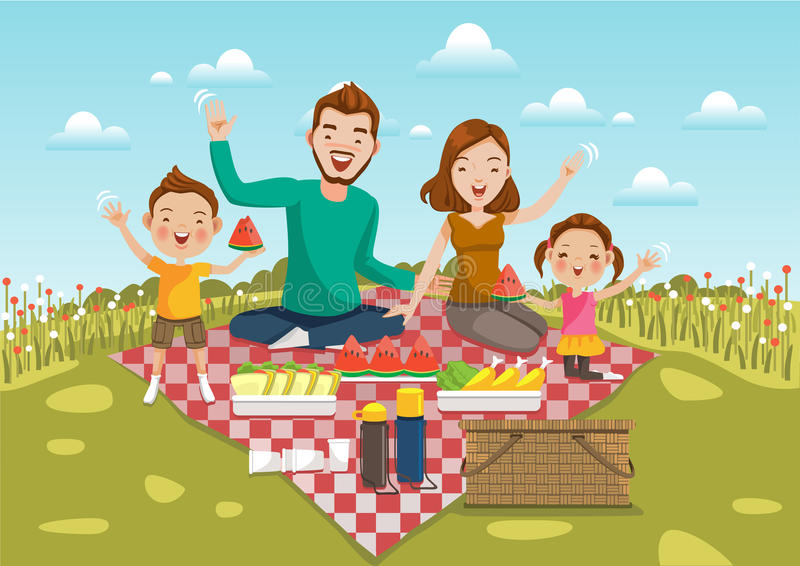 Picknick stock illustratie