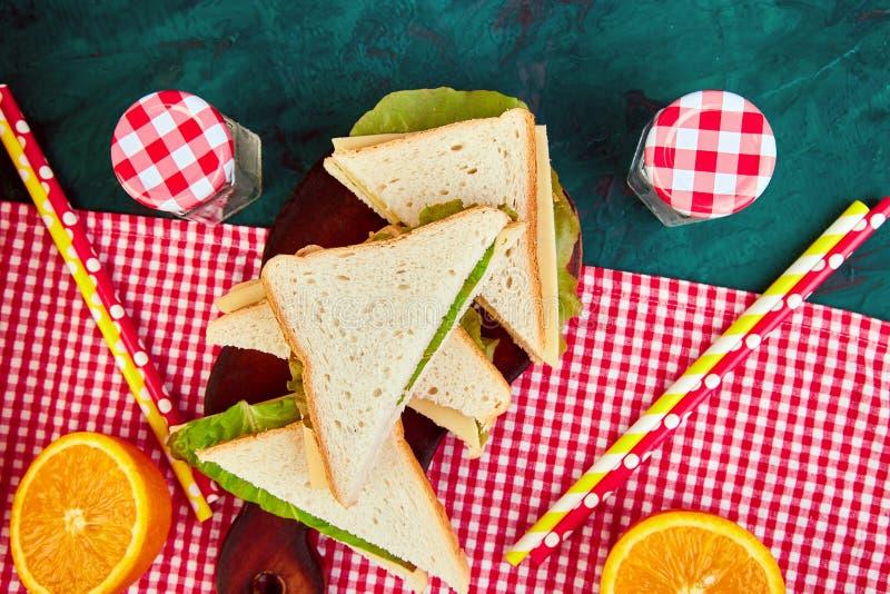 Picknick De rust van de de zomertijd royalty-vrije stock foto
