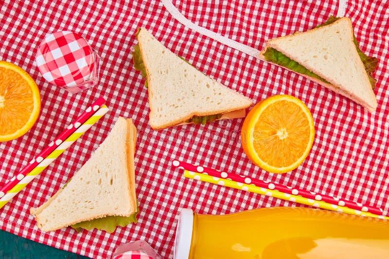 Picknick De rust van de de zomertijd stock foto