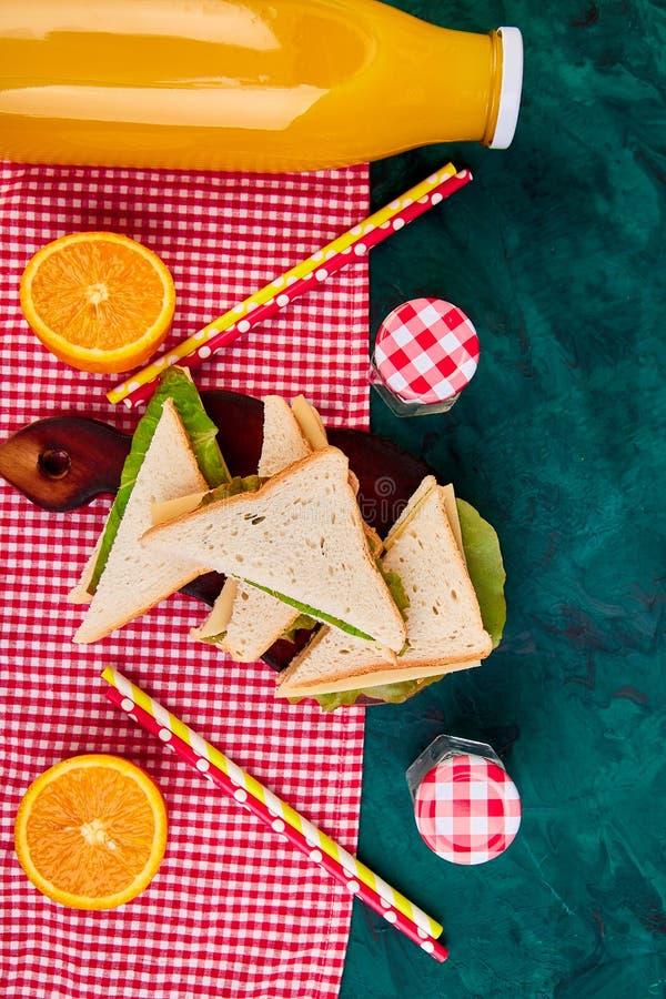 Picknick De rust van de de zomertijd royalty-vrije stock foto's