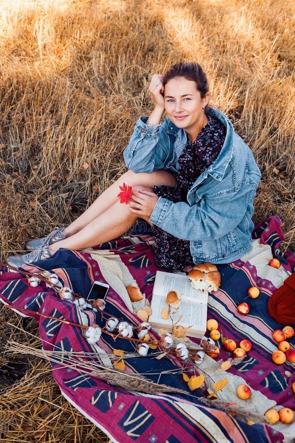 Picknick in de verse lucht stock fotografie