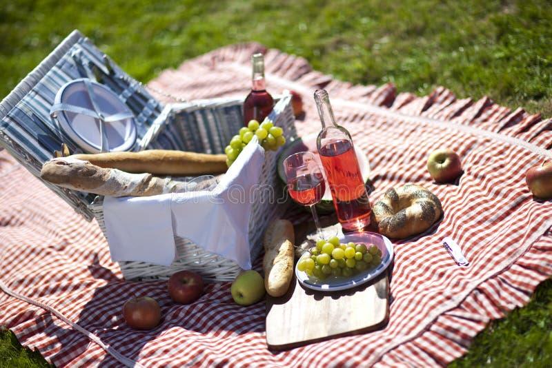 Picknick en zon! royalty-vrije stock fotografie