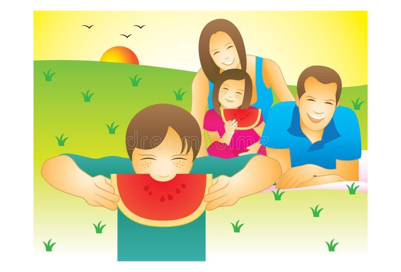 Picknick im Park lizenzfreie abbildung