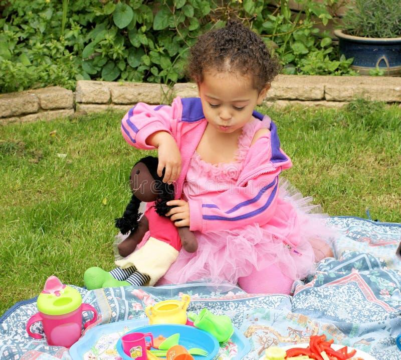 Picknick Im Rosa Lizenzfreie Stockfotografie