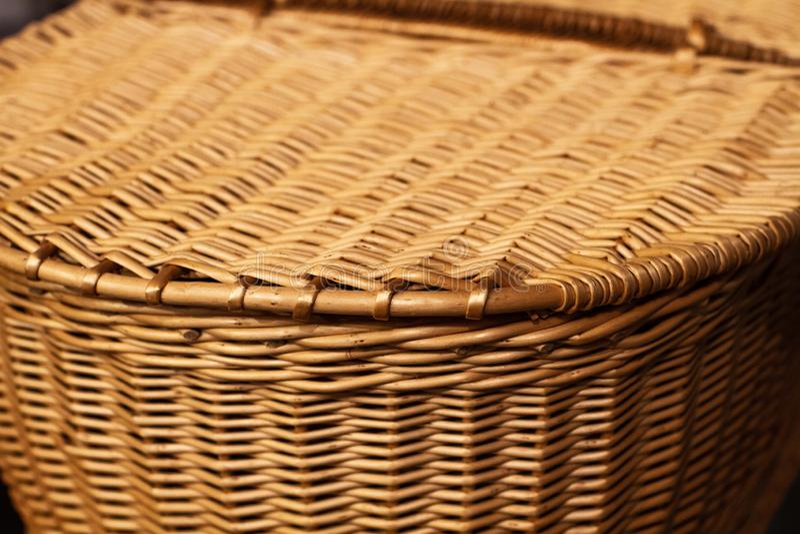Picknick-Korb-Korbwarendetail lizenzfreie stockfotos