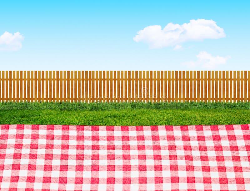 Picknick utomhus royaltyfri illustrationer